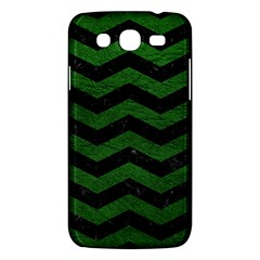 CHEVRON3 BLACK MARBLE & GREEN LEATHER Samsung Galaxy Mega 5.8 I9152 Hardshell Case