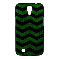 CHEVRON3 BLACK MARBLE & GREEN LEATHER Samsung Galaxy Mega 6.3  I9200 Hardshell Case