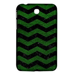 CHEVRON3 BLACK MARBLE & GREEN LEATHER Samsung Galaxy Tab 3 (7 ) P3200 Hardshell Case