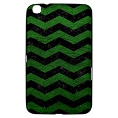 CHEVRON3 BLACK MARBLE & GREEN LEATHER Samsung Galaxy Tab 3 (8 ) T3100 Hardshell Case