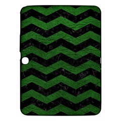 CHEVRON3 BLACK MARBLE & GREEN LEATHER Samsung Galaxy Tab 3 (10.1 ) P5200 Hardshell Case