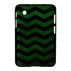CHEVRON3 BLACK MARBLE & GREEN LEATHER Samsung Galaxy Tab 2 (7 ) P3100 Hardshell Case