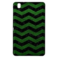 CHEVRON3 BLACK MARBLE & GREEN LEATHER Samsung Galaxy Tab Pro 8.4 Hardshell Case