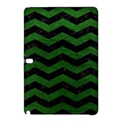 CHEVRON3 BLACK MARBLE & GREEN LEATHER Samsung Galaxy Tab Pro 12.2 Hardshell Case