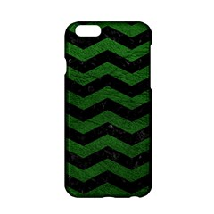 CHEVRON3 BLACK MARBLE & GREEN LEATHER Apple iPhone 6/6S Hardshell Case