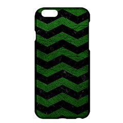 CHEVRON3 BLACK MARBLE & GREEN LEATHER Apple iPhone 6 Plus/6S Plus Hardshell Case