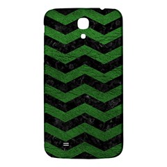 CHEVRON3 BLACK MARBLE & GREEN LEATHER Samsung Galaxy Mega I9200 Hardshell Back Case