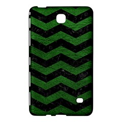 CHEVRON3 BLACK MARBLE & GREEN LEATHER Samsung Galaxy Tab 4 (8 ) Hardshell Case