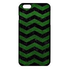 CHEVRON3 BLACK MARBLE & GREEN LEATHER iPhone 6 Plus/6S Plus TPU Case