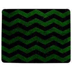CHEVRON3 BLACK MARBLE & GREEN LEATHER Jigsaw Puzzle Photo Stand (Rectangular)