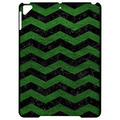 CHEVRON3 BLACK MARBLE & GREEN LEATHER Apple iPad Pro 9.7   Hardshell Case