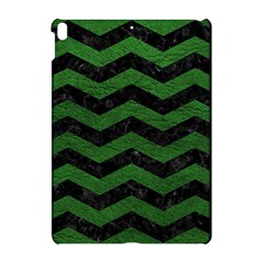 CHEVRON3 BLACK MARBLE & GREEN LEATHER Apple iPad Pro 10.5   Hardshell Case