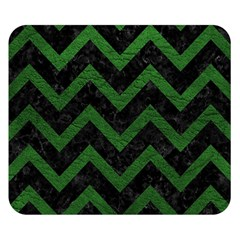 Chevron9 Black Marble & Green Leather Double Sided Flano Blanket (small)  by trendistuff