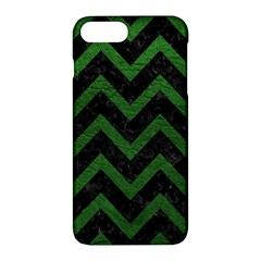 Chevron9 Black Marble & Green Leather Apple Iphone 7 Plus Hardshell Case
