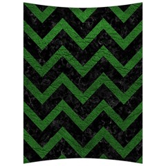 Chevron9 Black Marble & Green Leather Back Support Cushion by trendistuff