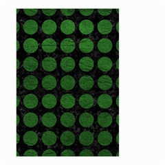 Circles1 Black Marble & Green Leather Small Garden Flag (two Sides) by trendistuff