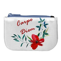 Carpe Diem  Large Coin Purse by Valentinaart