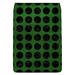 Circles1 Black Marble & Green Leather (r) Flap Covers (l)  by trendistuff