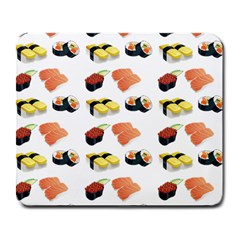 Sushi Pattern Large Mousepads by Valentinaart