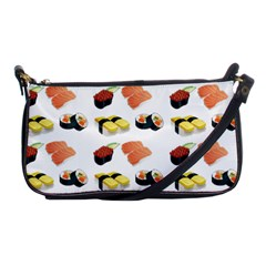 Sushi Pattern Shoulder Clutch Bags by Valentinaart