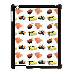Sushi Pattern Apple Ipad 3/4 Case (black) by Valentinaart