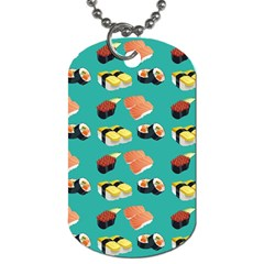 Sushi Pattern Dog Tag (two Sides) by Valentinaart