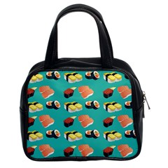 Sushi Pattern Classic Handbags (2 Sides) by Valentinaart
