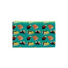 Sushi Pattern Cosmetic Bag (xs) by Valentinaart