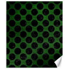 Circles2 Black Marble & Green Leather (r) Canvas 20  X 24   by trendistuff