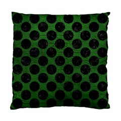 Circles2 Black Marble & Green Leather (r) Standard Cushion Case (one Side) by trendistuff