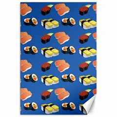 Sushi Pattern Canvas 20  X 30   by Valentinaart