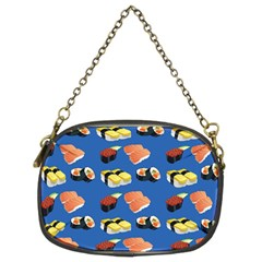 Sushi Pattern Chain Purses (two Sides)  by Valentinaart