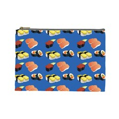 Sushi Pattern Cosmetic Bag (large)