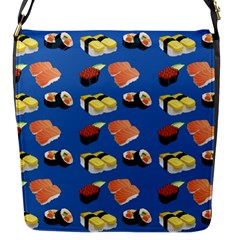 Sushi Pattern Flap Messenger Bag (s) by Valentinaart