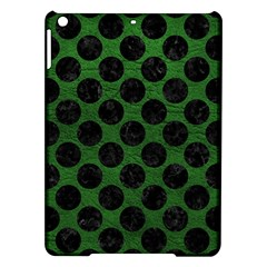 Circles2 Black Marble & Green Leather (r) Ipad Air Hardshell Cases by trendistuff