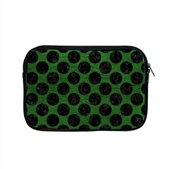 Circles2 Black Marble & Green Leather (r) Apple Macbook Pro 15  Zipper Case by trendistuff
