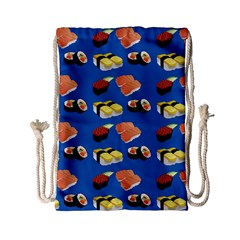 Sushi Pattern Drawstring Bag (small) by Valentinaart