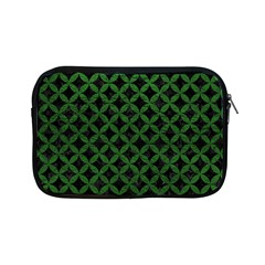 Circles3 Black Marble & Green Leather Apple Ipad Mini Zipper Cases by trendistuff