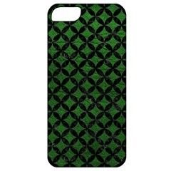 Circles3 Black Marble & Green Leather (r) Apple Iphone 5 Classic Hardshell Case by trendistuff