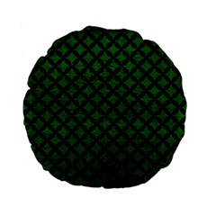 Circles3 Black Marble & Green Leather (r) Standard 15  Premium Flano Round Cushions by trendistuff