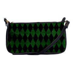 Diamond1 Black Marble & Green Leather Shoulder Clutch Bags by trendistuff