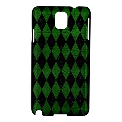 Diamond1 Black Marble & Green Leather Samsung Galaxy Note 3 N9005 Hardshell Case by trendistuff
