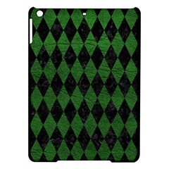 Diamond1 Black Marble & Green Leather Ipad Air Hardshell Cases by trendistuff