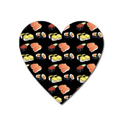 Sushi Pattern Heart Magnet by Valentinaart
