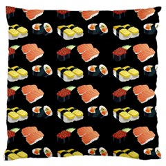Sushi Pattern Large Cushion Case (two Sides) by Valentinaart