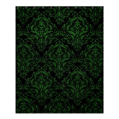 Damask1 Black Marble & Green Leather Shower Curtain 60  X 72  (medium)  by trendistuff