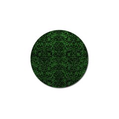 Damask2 Black Marble & Green Leather (r) Golf Ball Marker (10 Pack)