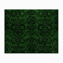 Damask2 Black Marble & Green Leather (r) Small Glasses Cloth by trendistuff