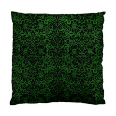 Damask2 Black Marble & Green Leather (r) Standard Cushion Case (one Side) by trendistuff