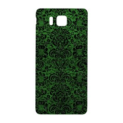 Damask2 Black Marble & Green Leather (r) Samsung Galaxy Alpha Hardshell Back Case by trendistuff